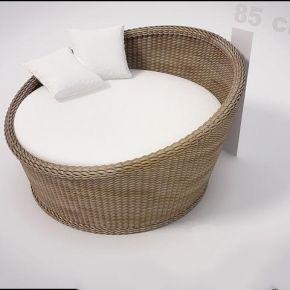 中式风格藤制单人沙发