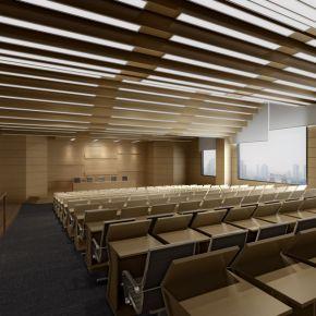 大型多功能会议厅3D模型