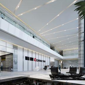 公司前台大厅休息区