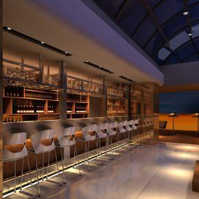 现代酒吧卡座区域