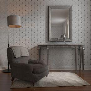现代单人沙发装饰台组合
