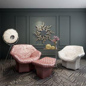 现代简约单人沙发椅组合3D模型