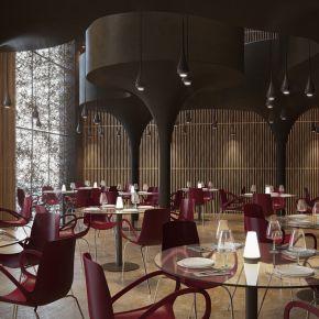 现代风格西餐厅