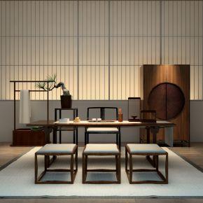 中式桌椅组合