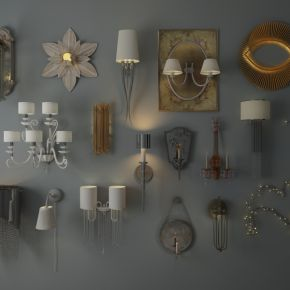 各种风格壁灯组合