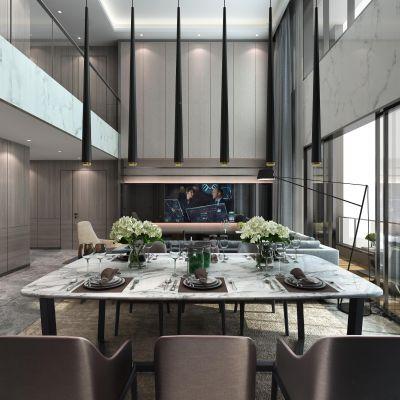 现代风格客餐厅