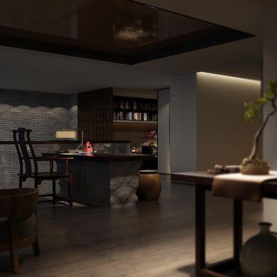 新中式茶楼3D模型