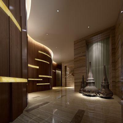 现代风格走廊过道