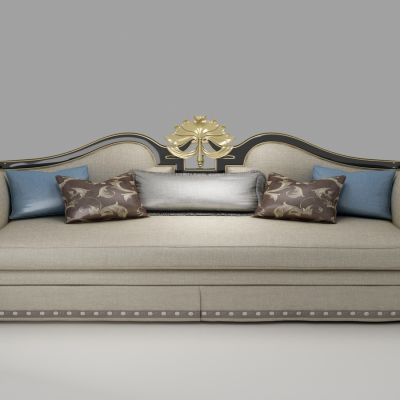 欧式布艺三人沙发