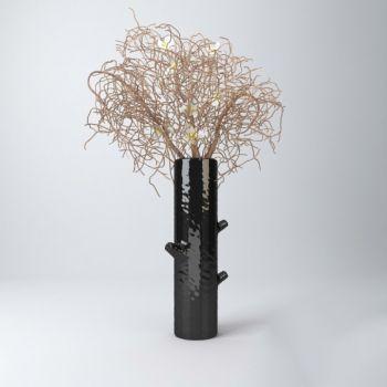 后现代风格花瓶和花组合装饰摆件
