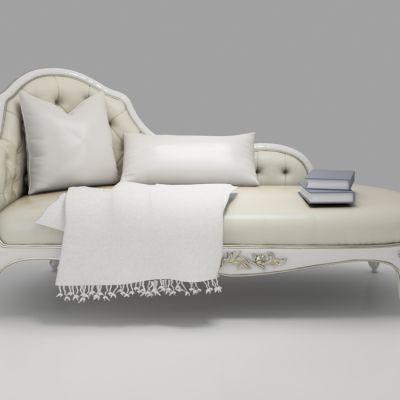 欧式浮雕贵妃椅