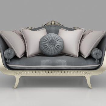 欧式两人沙发