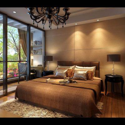 东南亚风格卧室3D效果图