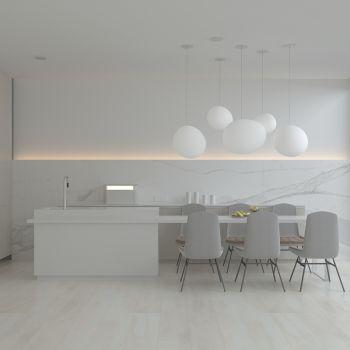 北欧简约橱柜餐桌椅组合