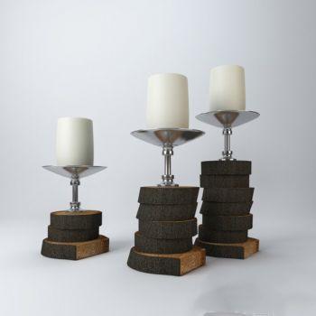 现代风格金属烛台饰品摆件