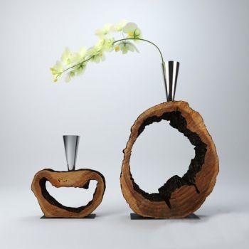 中式风格金属花瓶花卉饰品摆件