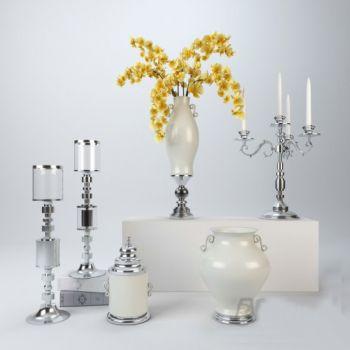 欧式风格烛台花瓶花卉饰品摆件