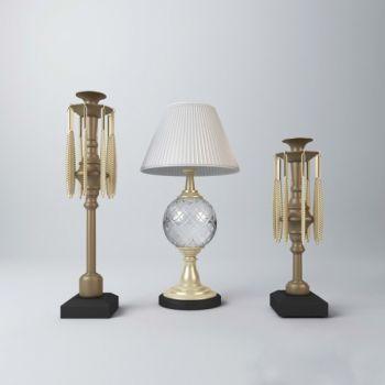 现代风格金属台灯饰品摆件