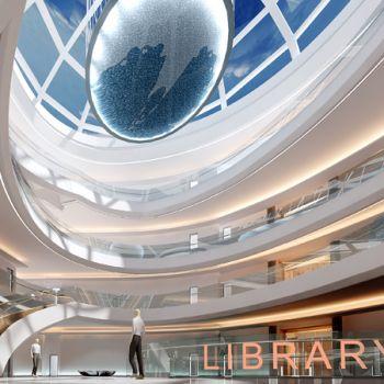 图书馆中庭