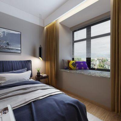 现代风格卧室全景模型