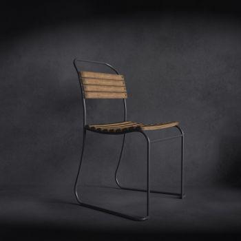 现代风格实木单人椅子