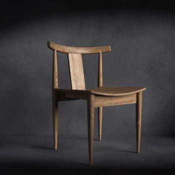 中式风格实木单人椅子