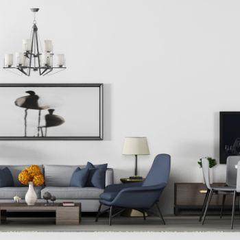 现代简约沙发茶几桌椅组合