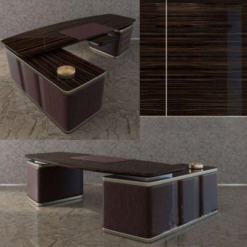 欧式实木办公桌3D模型