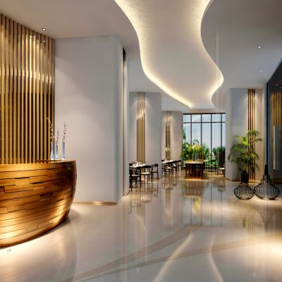 中式风格酒店大厅