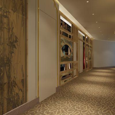 中式风格走廊3D模型