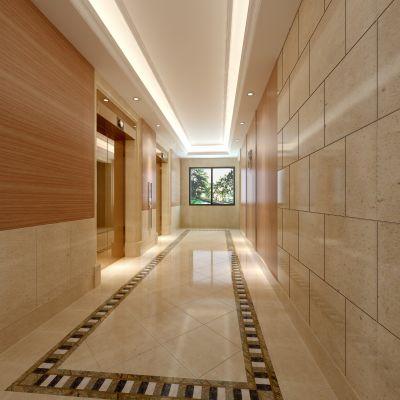现代风格电梯厅