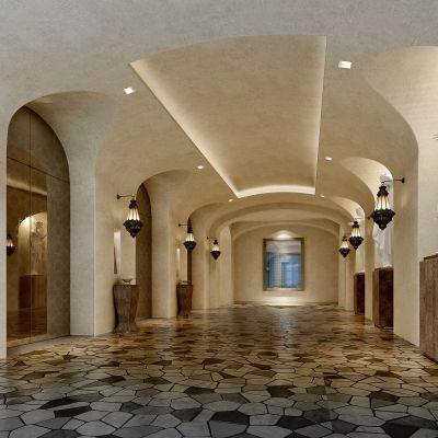 地中海风格走廊3D模型
