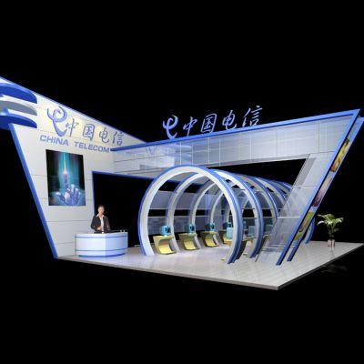 现代展览会展台展厅