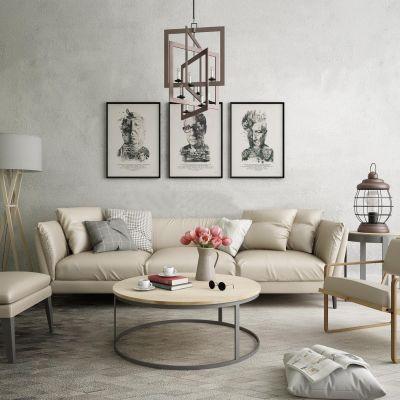 米兰现代沙发组合休闲椅3D模型
