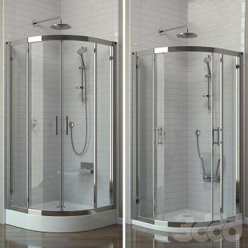 现代玻璃淋浴房