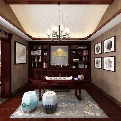书房茶室3D模型