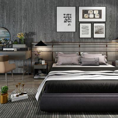 现代风格床具组合3D模型