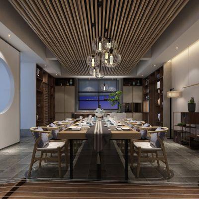 中式 餐厅 茶厅3D模型