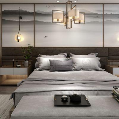 新中式风格床具组合