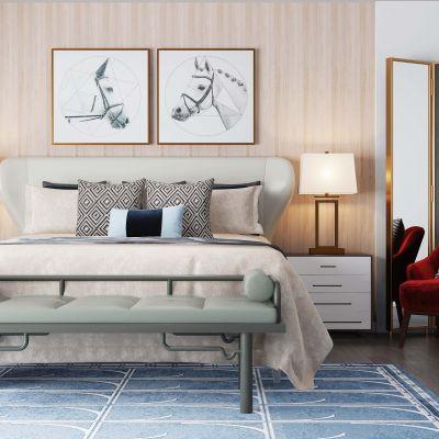 现代风格卧室床具组合