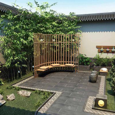 中式风格别墅新院子