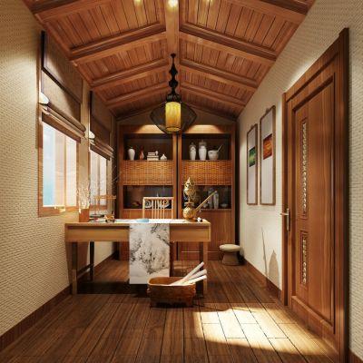 东南亚风格书房