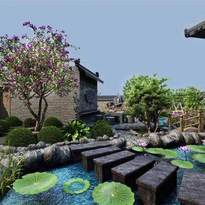 中式风格景观园林