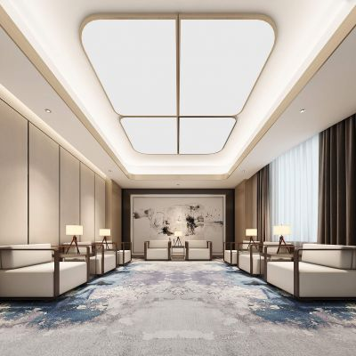 现代风格接待室3D模型