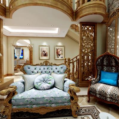 美式风格别墅大堂