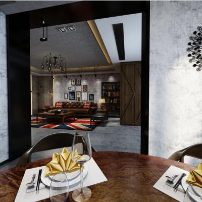 工业风格客餐厅