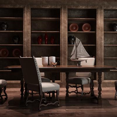 餐桌椅、储物柜组合家具