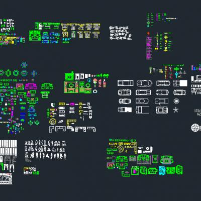 装修CAD图块大全CAD施工图