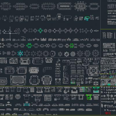 精品家具CAD库CAD施工图