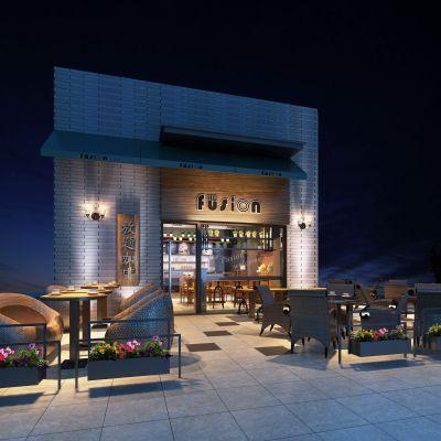 咖啡馆、面包房现代风格